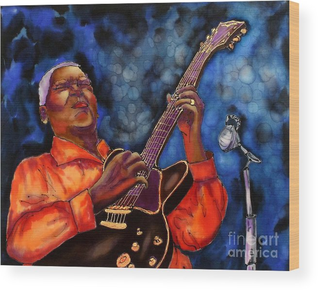 Jazz Wood Print featuring the painting Blues Vibe by Linda Marcille