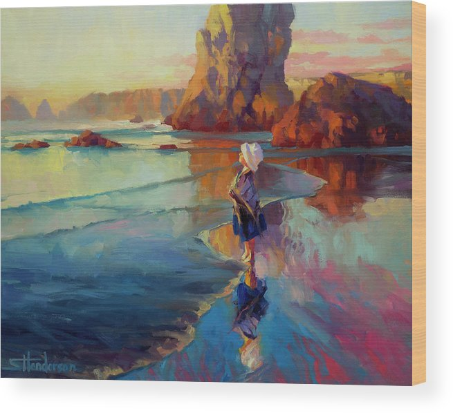 Child Wood Print featuring the painting Bold Innocence by Steve Henderson