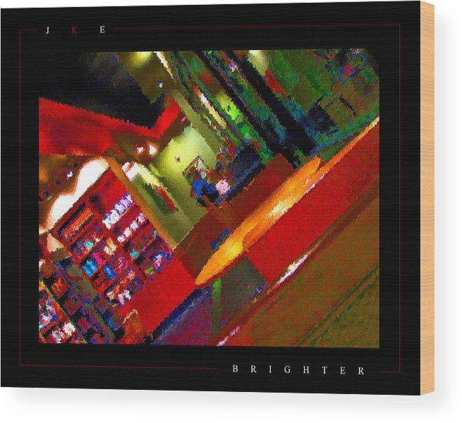 Starbucks Wood Print featuring the photograph Brighter by Jonathan Ellis Keys