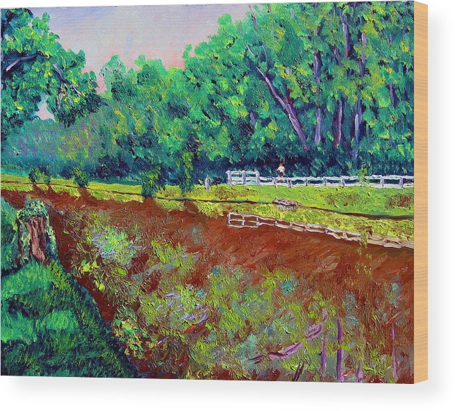 Plein Air Wood Print featuring the painting Broadripple Canal by Stan Hamilton