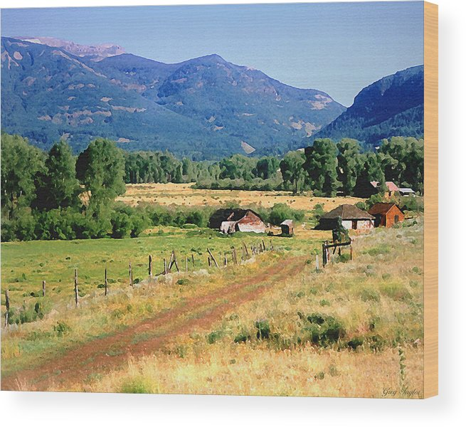 Colorado Wood Print featuring the photograph Colorado Ranch by Greg Taylor