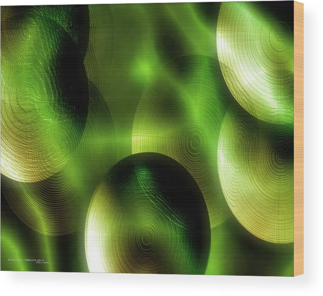 Abstract Wood Print featuring the painting Conception by Dreamlight Creations