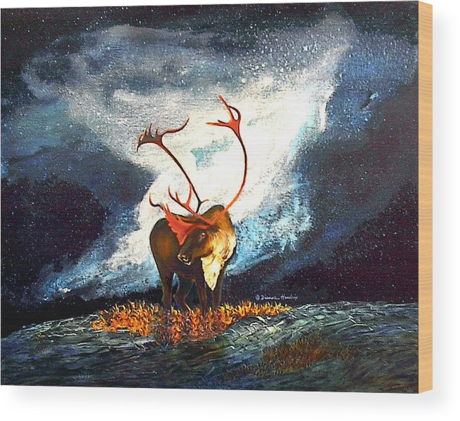Alaska Wood Print featuring the painting Coy Diffusion by Dianne Roberson