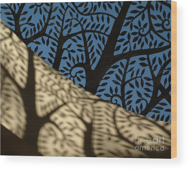 Abstract Wood Print featuring the photograph Cupola by Elizabeth McPhee