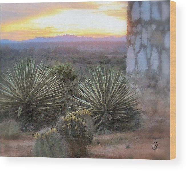 Cactus Wood Print featuring the photograph Desert Dawn by Kathy Simandl