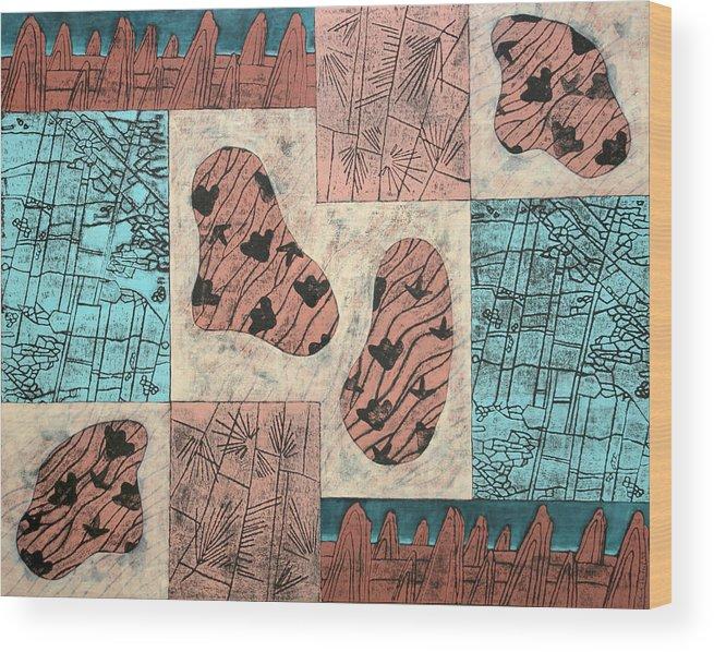 Dinosaur Wood Print featuring the painting Dinosaur Ridge by Diana Perfect