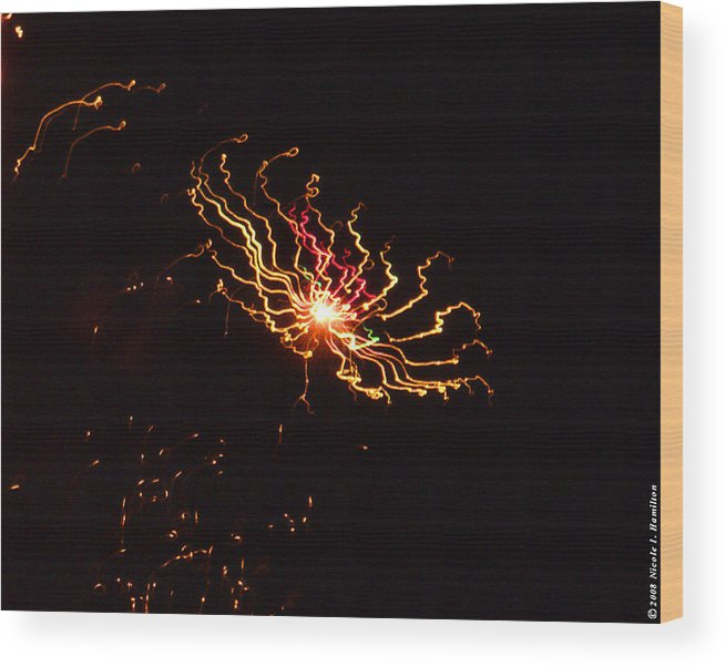 Black Wood Print featuring the photograph Distant Galaxy by Nicole I Hamilton