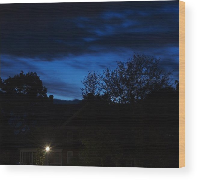 Silhouette Wood Print featuring the photograph Dusk by Faith Harron Boudreau