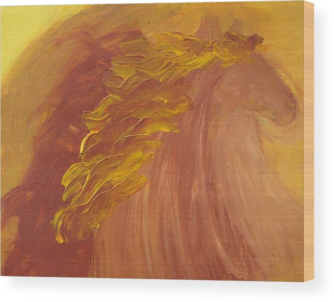 Horses Wood Print featuring the painting Empower by Karen L Christophersen