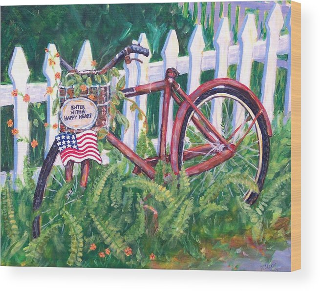 Acrylic Wood Print featuring the painting Enter With A Happy Heart by Ruth Mabee