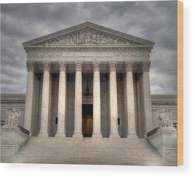 Law Wood Print featuring the photograph Equal Justice by Mitch Cat