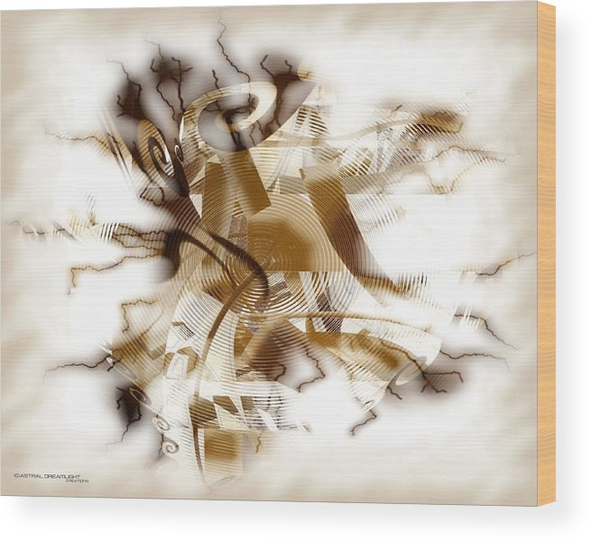 Abstract Wood Print featuring the digital art Establish by Dreamlight Creations
