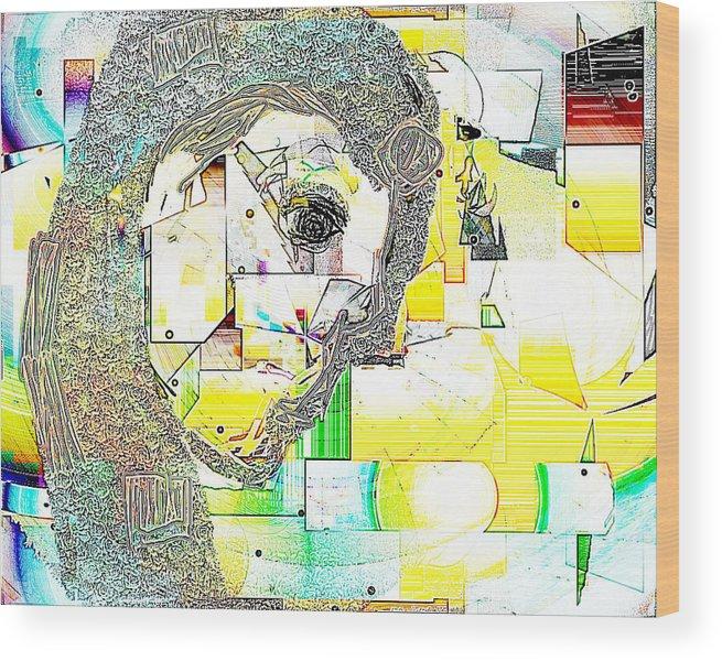 Digital Wood Print featuring the digital art Exercises 4 by Ilona Burchard