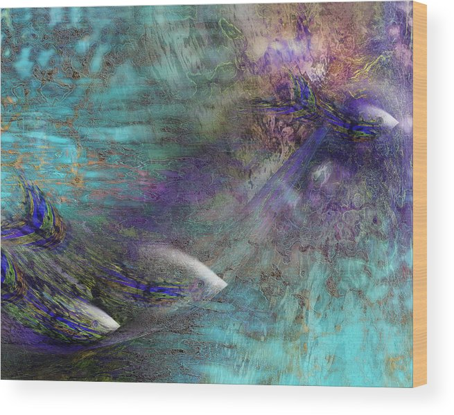 Fish Water Ocean Wood Print featuring the digital art Fantasy Fish by Gae Helton