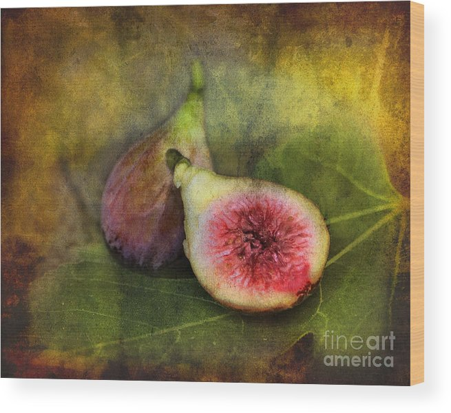 Figs Wood Print featuring the photograph Figs by Sari Sauls