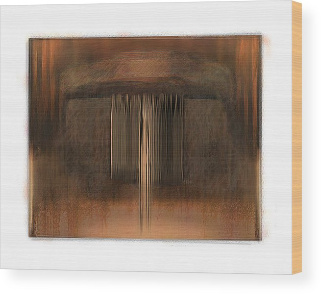 Abstract Wood Print featuring the digital art First Up Best Dressed by Nuff