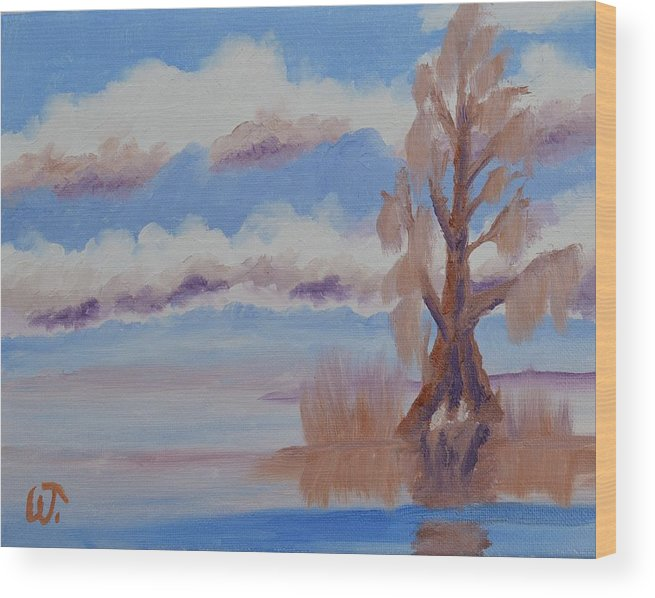 Florida Cypress Wood Print featuring the painting Florida Cypress by Warren Thompson
