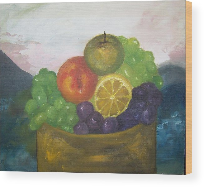 Oil Painting Wood Print featuring the painting Fruit Of The Land by Pamela Wilson