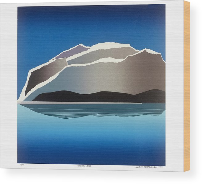 Landscape Wood Print featuring the mixed media Glaciers by Jarle Rosseland