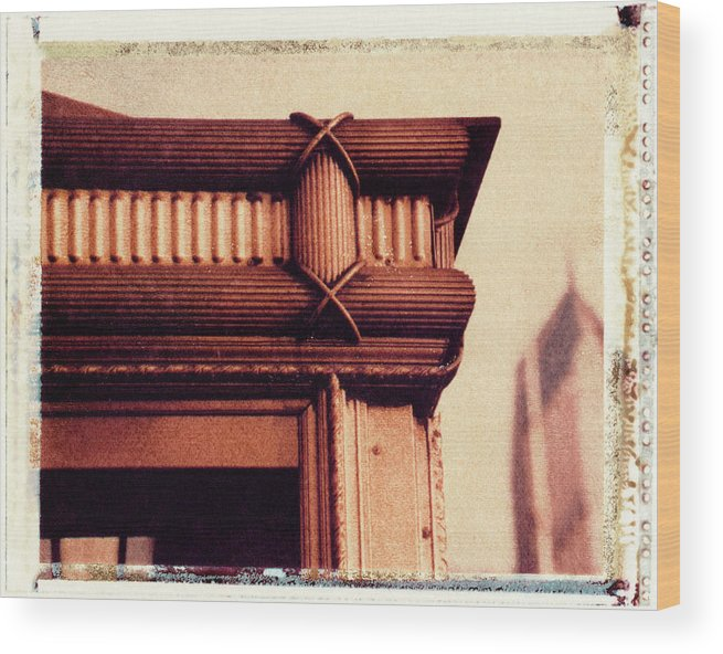 Polaroid Transfer Wood Print featuring the photograph Golden Corner by Bernice Williams