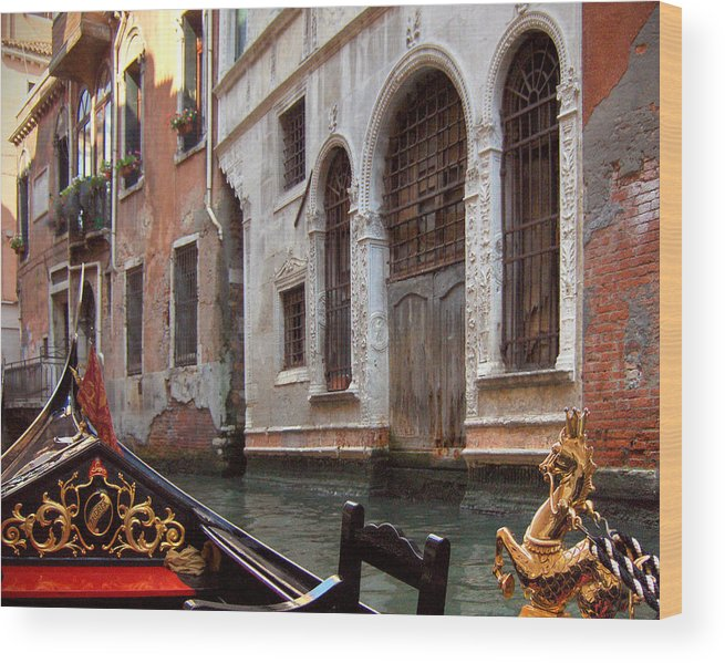 Gondola Wood Print featuring the photograph Gondola by Julie Geiss