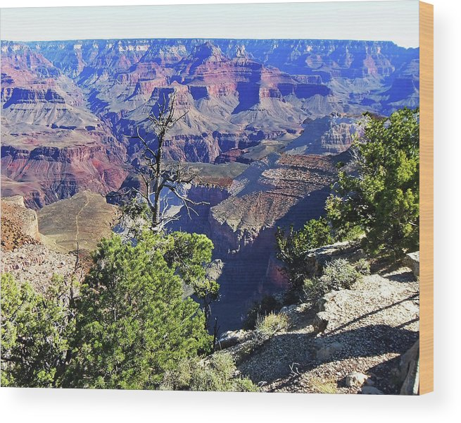 The Grand Canyon Is Arizona's Wonder Of The World. Wood Print featuring the photograph Grand Canyon14 by George Arthur Lareau