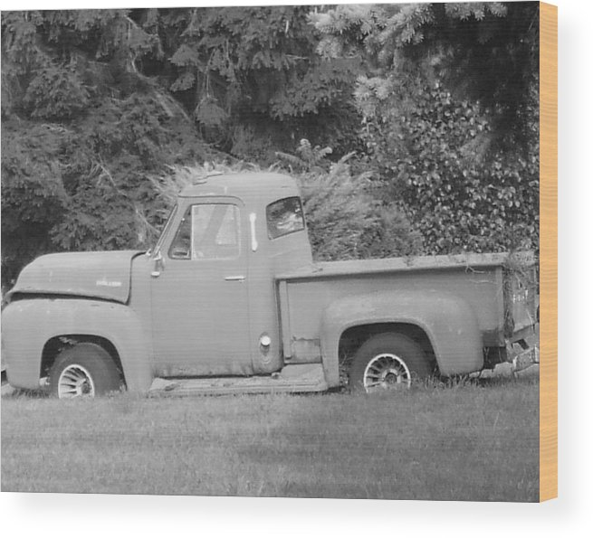 Truck Wood Print featuring the photograph Grounded Pickup by Pharris Art