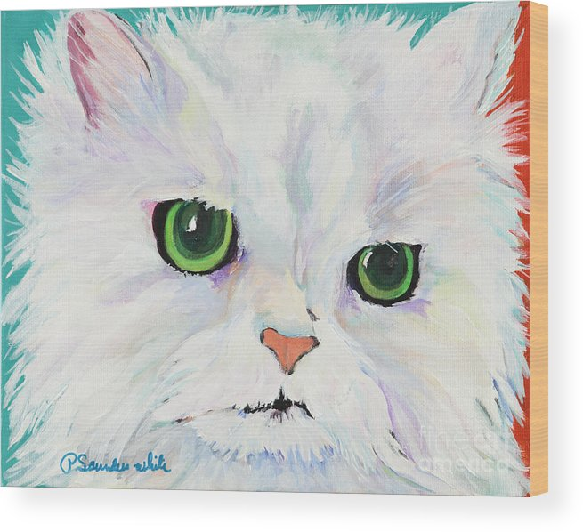 Acrylic Wood Print featuring the painting Hannah by Pat Saunders-White