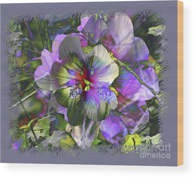 Flower Wood Print featuring the photograph Kaleidoscope Pollen by Chuck Brittenham
