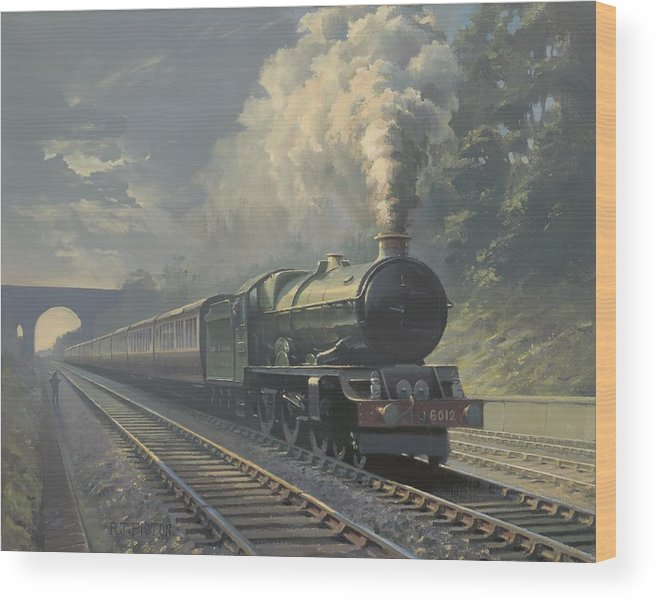 Steam Wood Print featuring the painting King Edward Vi by Richard Picton