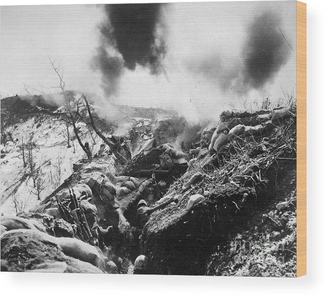 1952 Wood Print featuring the photograph Korean War: Trenches, 1952 by Granger