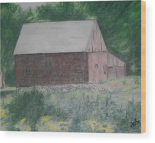Barn Wood Print featuring the painting Krashes Barn by Debra Sandstrom
