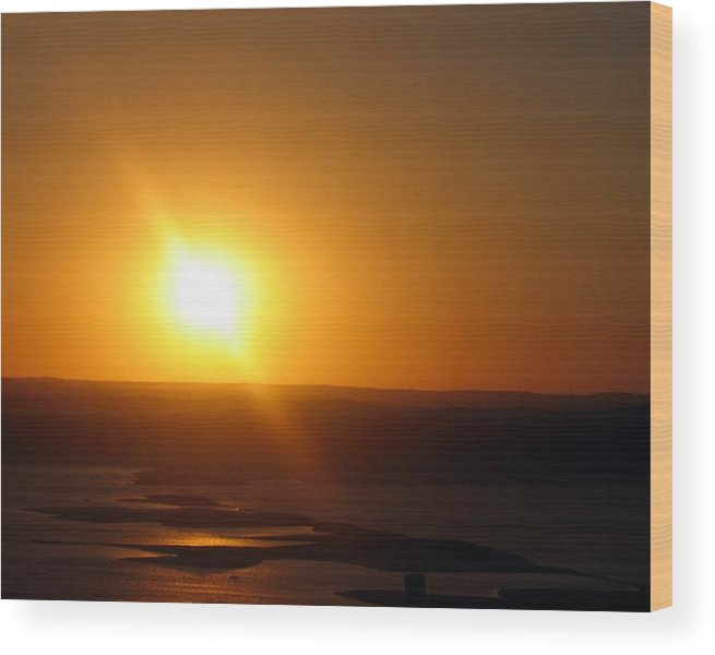 Austin Wood Print featuring the photograph Lake Travis Sunset by Lindsey Orlando