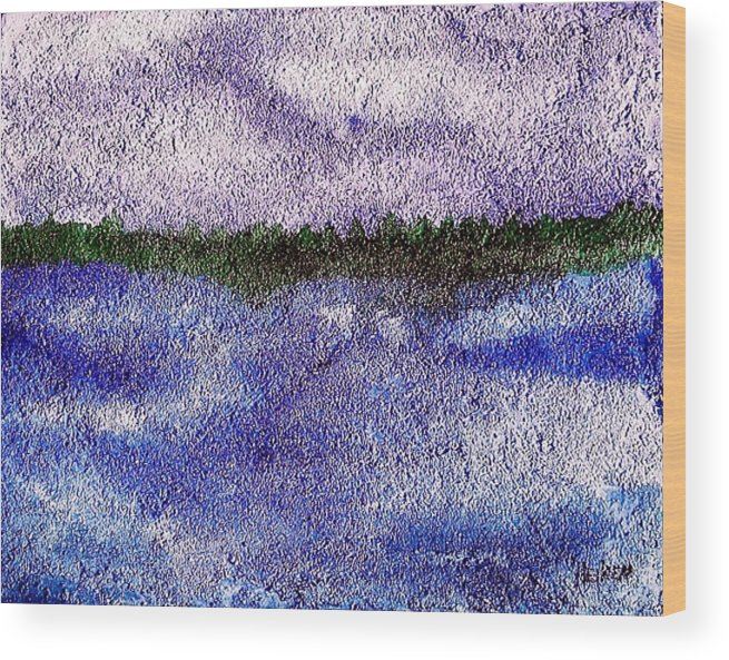 Painting Wood Print featuring the mixed media Lavender Land by Marsha Heiken