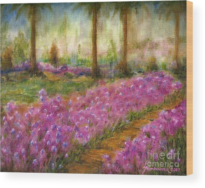 Monet Wood Print featuring the painting Monet's Garden In Cannes by Jerome Stumphauzer