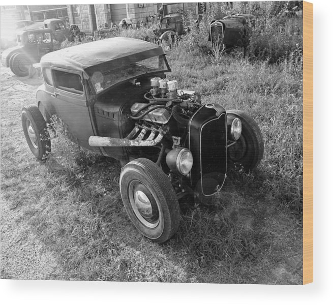 Hot Rod Wood Print featuring the photograph Morning Special by Christopher McKenzie