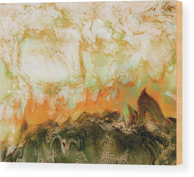 Paul Tokarski Wood Print featuring the photograph Mountain Flames II by Paul Tokarski