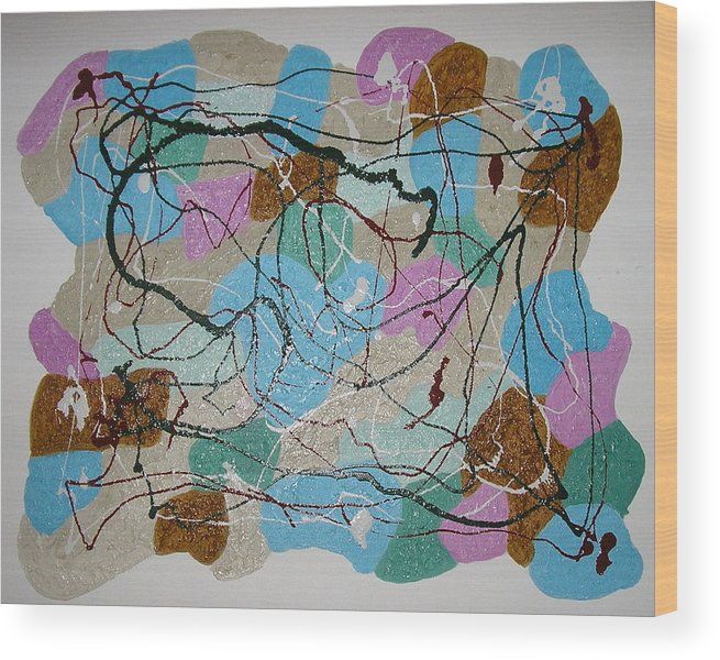 Symbolism Wood Print featuring the painting Multi-colour by Harris Gulko