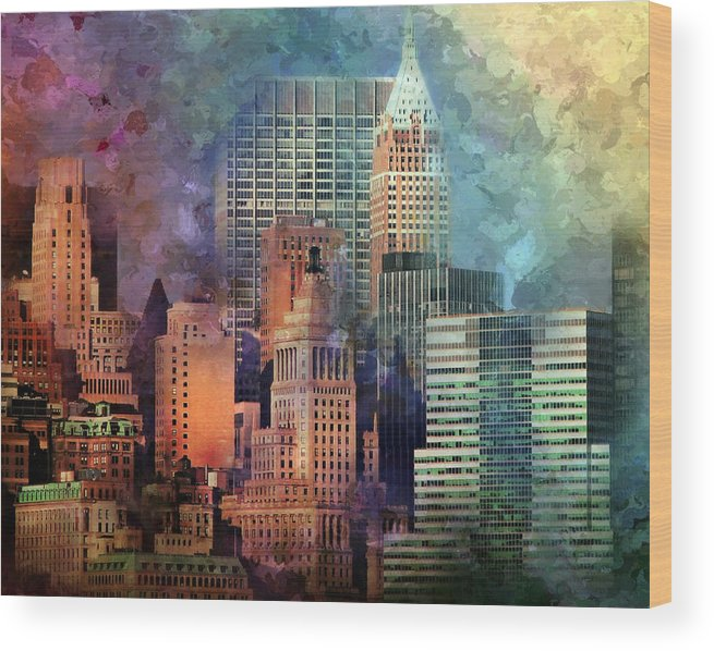 Manhattan Wood Print featuring the photograph My Style Manhattan by Diana Angstadt