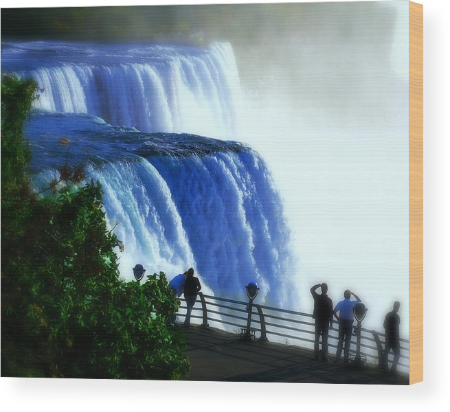 Niagra Falls Wood Print featuring the photograph Niagra Falls by Perry Webster