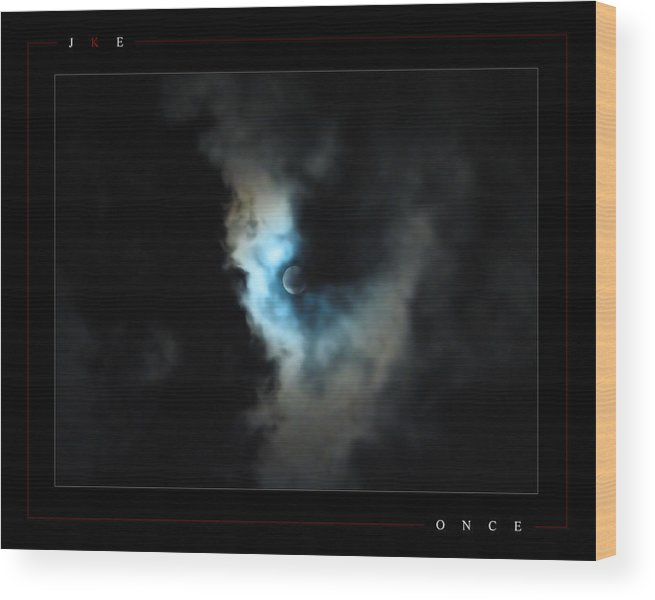 Blue Wood Print featuring the photograph Once by Jonathan Ellis Keys