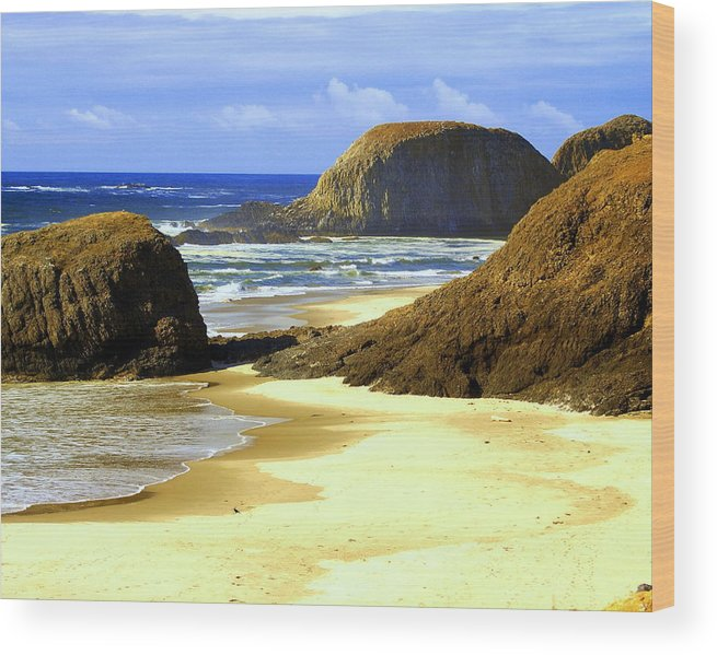 Ocean Wood Print featuring the photograph Oregon Coast 18 by Marty Koch