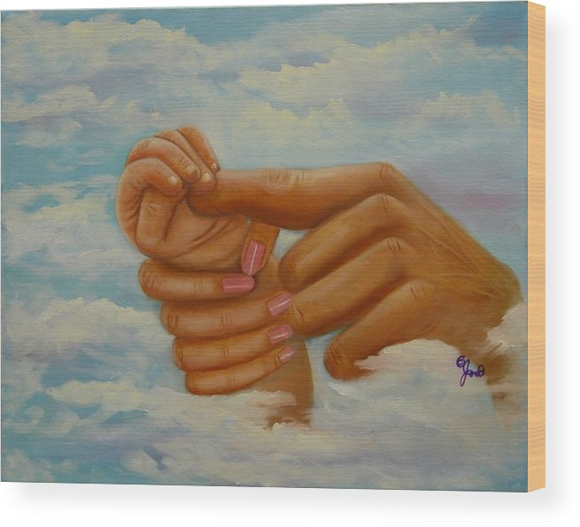 Family Wood Print featuring the painting Our Hands by Joni McPherson