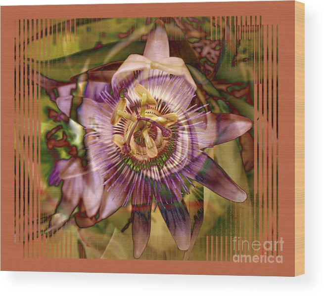 Flower Wood Print featuring the photograph Passion by Chuck Brittenham