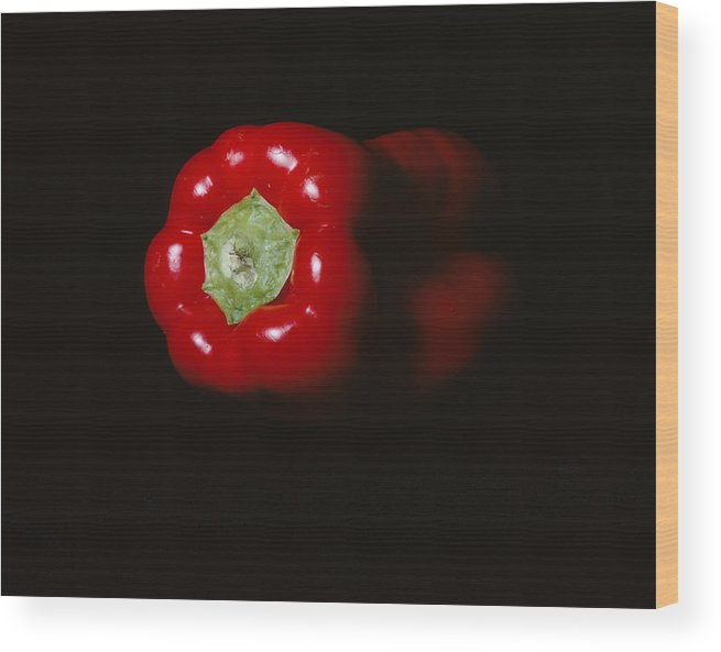 Red Pepper Wood Print featuring the photograph Pepper by Jessica Wakefield
