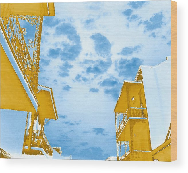 Sky Wood Print featuring the photograph Perfect New Orleans Day by Max Mullins