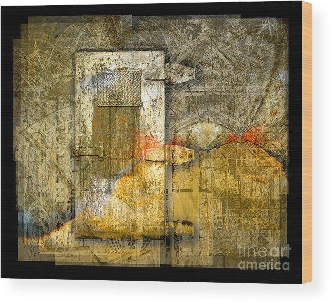 Door Wood Print featuring the digital art Presidio Door by Chuck Brittenham