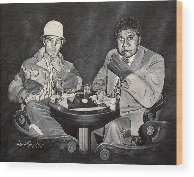 Hst Wood Print featuring the painting Raoul And Dr. Gonzo In Las Vegas by Daniel Bergren