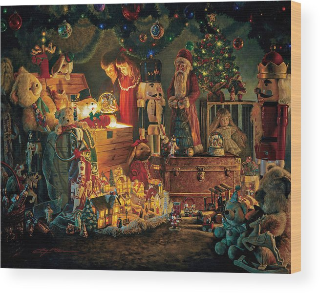 Santa Claus Wood Print featuring the painting Reason For The Season by Greg Olsen