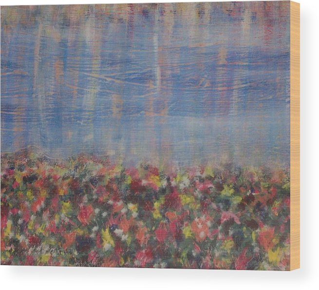 Floral Wood Print featuring the painting Reflections by Jennifer Hernandez